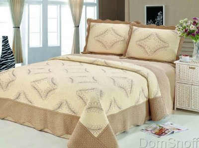 Покрывало Patchwork Silk Place Royalux 230x250 22-005A кофейный